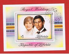 Liberia #900  VF used Wedding Souvenir Sheet  Free S/H