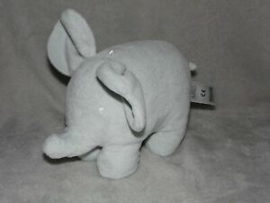 M&S GREY ELEPHANT RATTLE SOFT TOY COMFORTER MARKS AND SPENCER 02016702