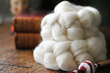 CORRIEDALE Wool Roving Undyed Combed Top Natural Ecru Spinning Felting - 4 oz
