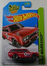 2014 Hot Wheels Workshop '71 Datsun Bluebird 510 wagon (red)