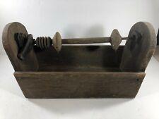 New listing Antique Yarn Winder Wood Vintage primitive Bobbin holder spool Textile