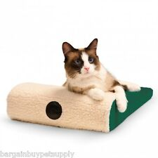 KH Mfg Ultra Memory Foam Chaise Cat Pet Lounger Bed Green