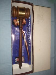 Republican House Newt Gingrich Gavel In Box with COA