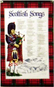 Scottish Songs Cotton Tea Towel by Samuel Lamont