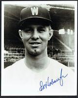 Ed Hobaugh signed autograph auto 8x10 Washington Senators Baseball Photo