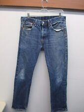Levi's 501 Medium Wash Men's Original Fit Button Fly Blue Jeans (Size: 33x32)