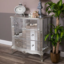 Mirrored Chest of Drawers Ornate Venetian Shabby Vintage Chic Furniture Storage