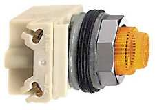 Schneider Electric 9001KP38LYA31 Pilot Light, LED, Amber, 120V, Fresnel Lens