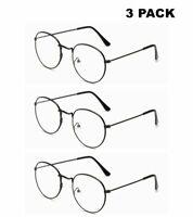 3 Pack Herren Damen Jahrgang Metall Lesebrille Leser 1,0 1,5 2,0 2,5 3,0 3,5