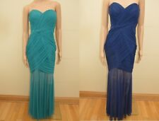 New Lipsy Peacock Green or Navy Blue Ruched Maxi Dress Sz UK 12