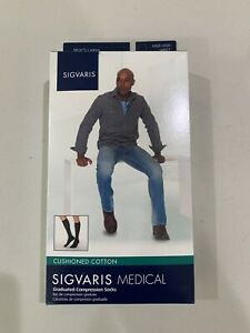 Sigvaris Medical Cushioned Cotton Compression Socks - LL - White - 20-30mmHg