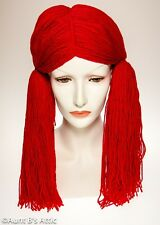 Rag Doll Wig Long Red Yarn Pigtail Doll / Clown Character Costume Wig OS