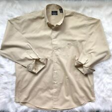 GREG NORMAN COLLECTION Men's Large Button Down Long Sleeved Shirt Beige