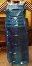 Ten Plastic Reusable Aprons with ties, waste and neck. Color- Deep Blue.