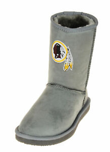 Cuce Shoes Washington Redskins NFL Football Women's The Devotee Boot - Gray