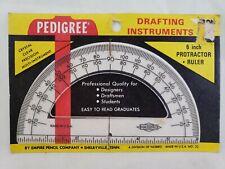 Nos Vintage Mid Century School Supplies Pedigree Protractor Sterling Triangle