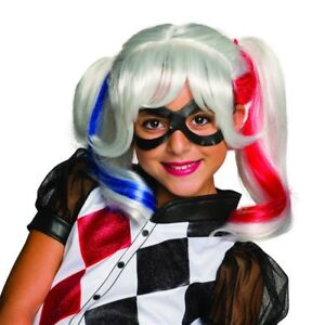 DC Super Heroes Harley Quinn Child Wig, 32967, Rubies