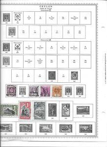 55 stamps from ceylon george V V1 QE2