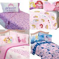nEw DISNEY PRINCESSES BED SHEETS SET - Cinderella Sofia Ariel Sheets Pillowcase