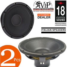 "2pcs 18 Sound 18NLW9601 18"" 3600 Watts Neodymium Subwoofer 8Ω Pro Audio Speaker."