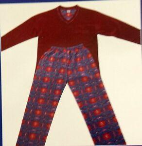 Herrenmode  Schlafanzug /  Pyjama V-Ausschnitt Langarm  Lang Hose Baumwolle
