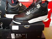 Nike Air Jordan IV 4 Retro LS BG GS Oreo Black Tech Grey Cement vi xi 408452 003