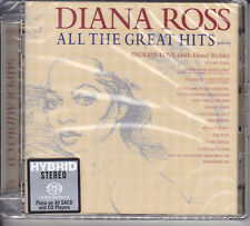 """Diana Ross All The Great Hits"" Limited Numbered Japan Hybrid SACD CD New Sealed"