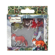 Santoro London Willow THE GUIDE Clear Stamp Set Girl Fox Flower