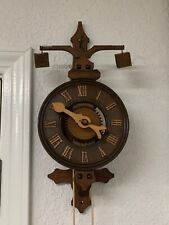 "Vintage Stone Weight Driven Clock ""Anno 1640"" Medieval Made In Germany"
