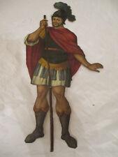 Krippenfigur aus Pappe, org. Bemalung, Italien um 1899, Speerspitze fehlt, anson