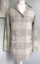 POETRY Grey Check Baby Alpaca Mix Cardigan Knitted Jacket UK 12 14 NWT £199 Soft