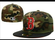 Boston Redsox New Era Fitted Camo Hat Sizes 7 1/2 And 7 3/8