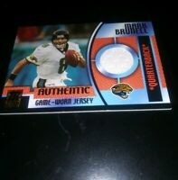 2001 Mark Brunell Topps Reserve Authentic Game Worn Jersey Card