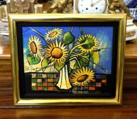 Magnificent Rare Pat Davis Framed/Signed Floral Oil Painting on Canvas