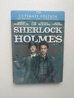 SHERLOCK HOLMES BLURAY STEELBOOK JUDE LAW ULTIMATE EDITION + DVD FILM CINEMA