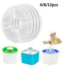 4~12PCS Pet Fountain Replacement Carbon Filters For Pet Cat Dog Water Drinking