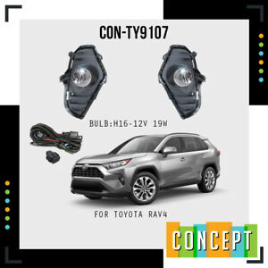 For 2019-2020 Toyota RAV4 Fog Lights Lamps with Assembly Set L&R Side