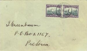 South Africa 1930 Roto Unhyphenated 2d with 'Comet' flaw on Mbabane cover