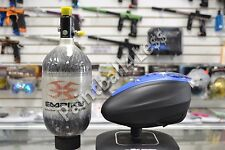 Dye Rotor LTR Paintball Loader Black/Blue+ Empire 68ci/4500psi Carbon Fiber Tank
