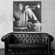 Poster Mural Miles Davis Jazz Musician 40x43 inch (100x108 cm) on Adhesive Vinyl