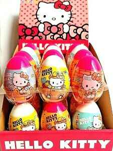HELLO KITTY SURPRISE EGGS NOVELTY KIDS PARTY BAG FILLERS HALAL candies & toy