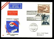 Austria 1963 First Flight Cover FFC, Innsbruck - Salzburg #C4871