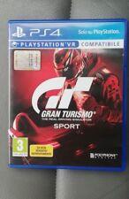 GRAN TURISMO SPORT GT SPORT VR COMPATIBILE PS4 ORIGINALE ITALIANO UFFICIALE ps 4