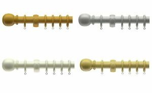 28mm Victory Traditional Wooden Curtain Pole Set Available In Various Colours