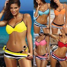 Damen Bikini Set Sommer Push Up Gepolstert Bh Bademode Badeanzug Strandkleidung