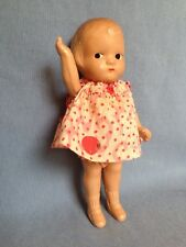 """Vintage 20's 30's Composition Doll 8"""" Patsy-type strung arms Side Glance Painted"""