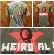 WEIRD AL YANKOVIC Mens Mandatory World Tour Concert Shirt Size Small Army CD EUC