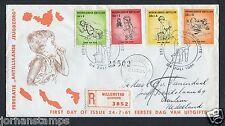 Nederlandse Antillen FDC E17 _ 2 M, met adres ; aangetekend
