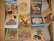 Large lot of vintage children's books from 1930s -1940s Whitman FANTASTIC PIX