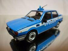 PRC ALFA ROMEO GIULIETTA 1.6 1978 - POLIZIA POLICE - BLUE 1:43 - GOOD CONDITION